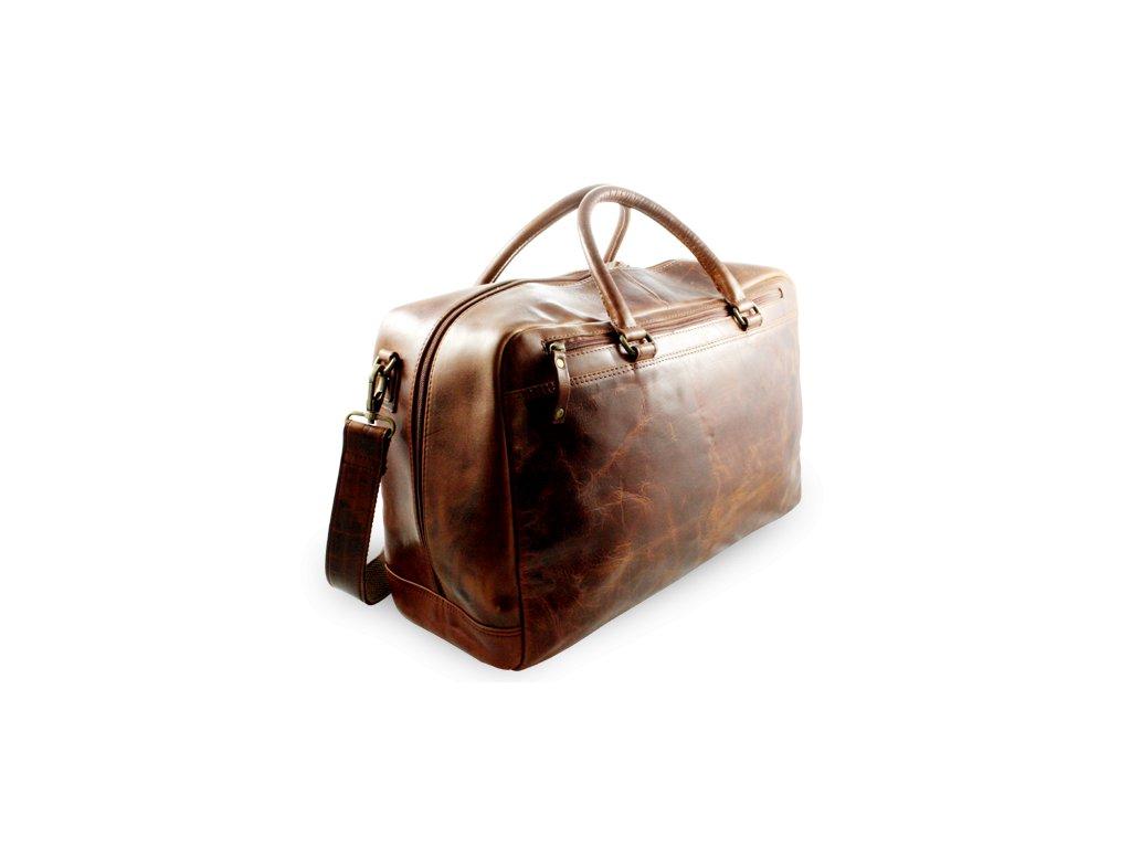 Cestovní kožená taška