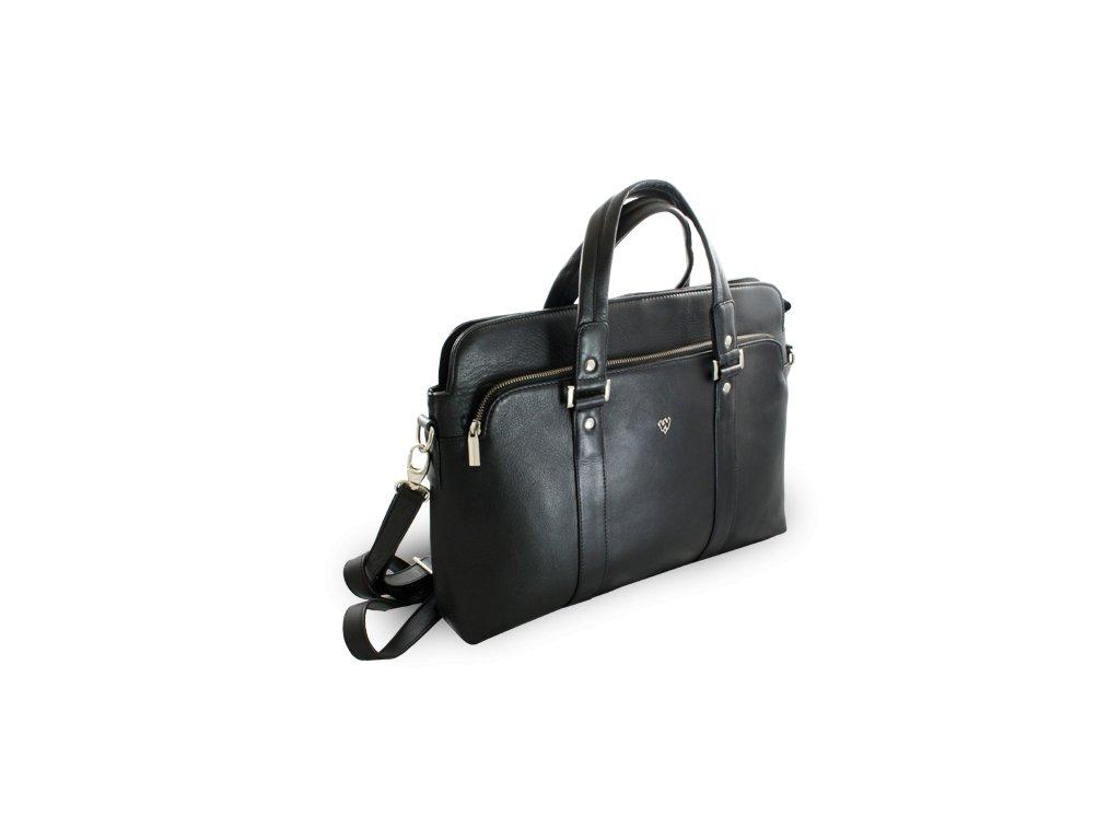 386e9bda0c Černá kožená business taška na notebook