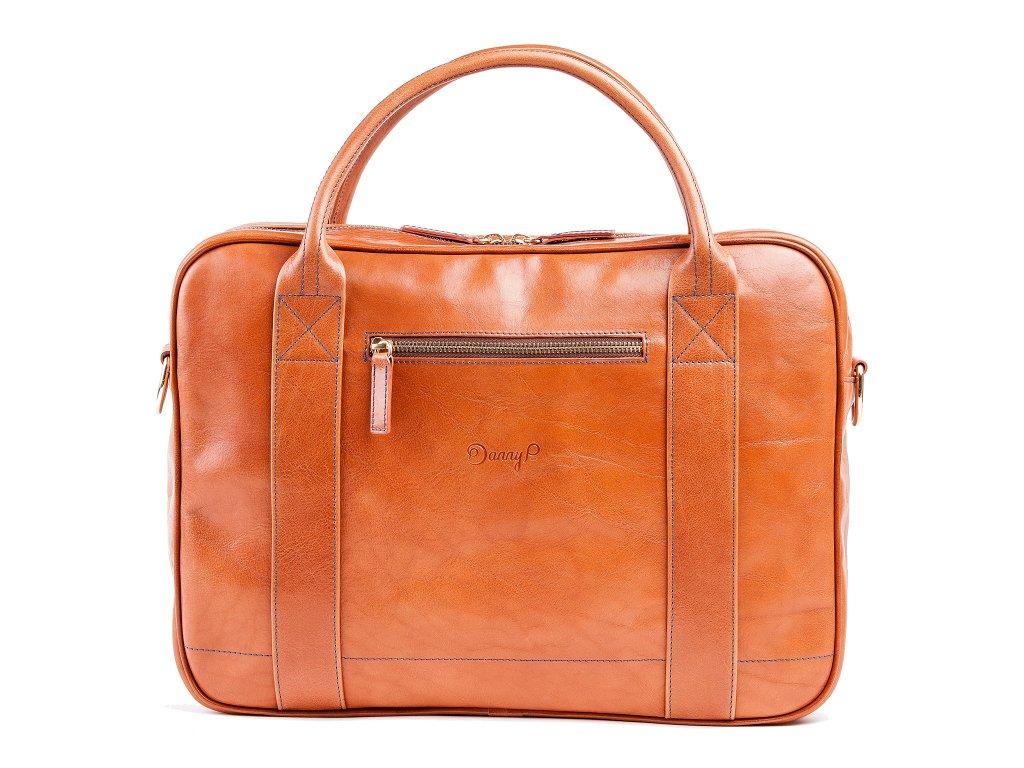 Kožená Messenger taška, Hnědá