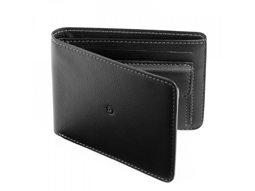 Pánská kožená peněženka, Černá
