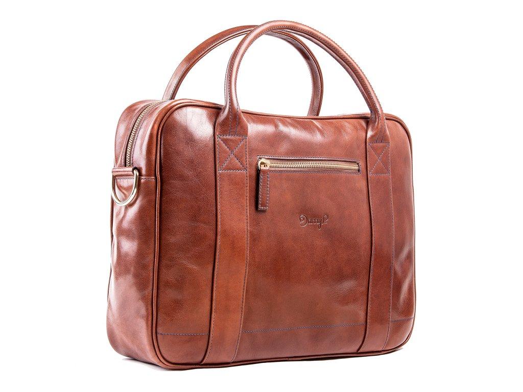 Kožená Messenger taška, Tmavě hnědá