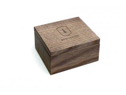 Dřevěná krabička pro manžetové knoflíčky