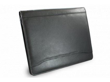 Černá kožená zipová spisovka