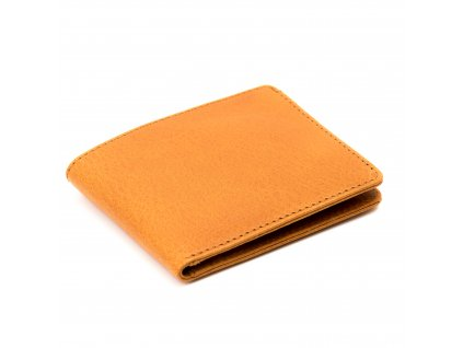 Kožená slim peněženka Beige