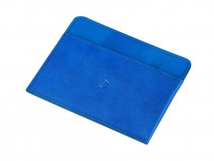 Kožená peněženka na karty, Modrá