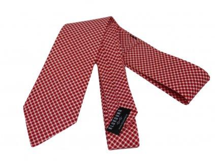 Červenobílá kravata