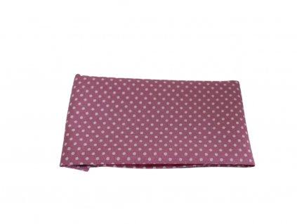 Růžový kapesníček do saka s bílými puntíky
