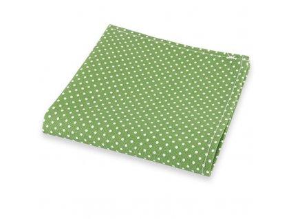 Zelený kapesníček do saka s bílými puntíky