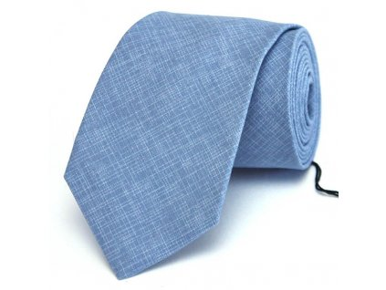 Modrá žíhaná kravata