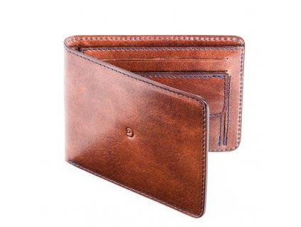 Pánská kožená peněženka, Tmavě hnědá