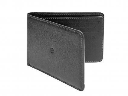 Kožená slim peněženka, Černá