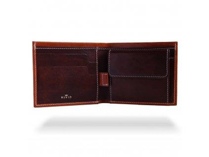 Kožená peněženka Vivid Pocket, Hnědá