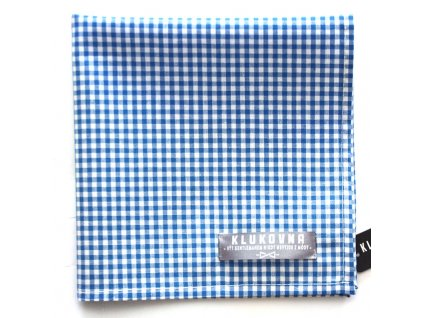 Modrobílý károvaný kapesníček do saka