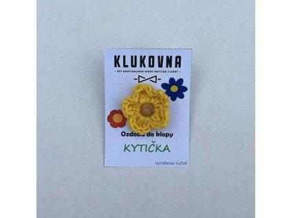Ozdoba do klopy - Žlutá kytička