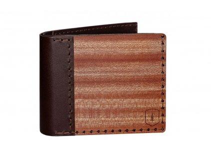 Dřevěná peněženka Red Virilia