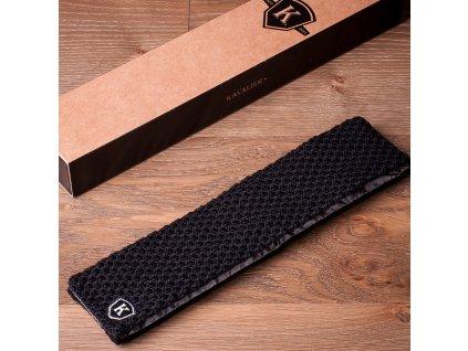 Pletená kravata - Černá