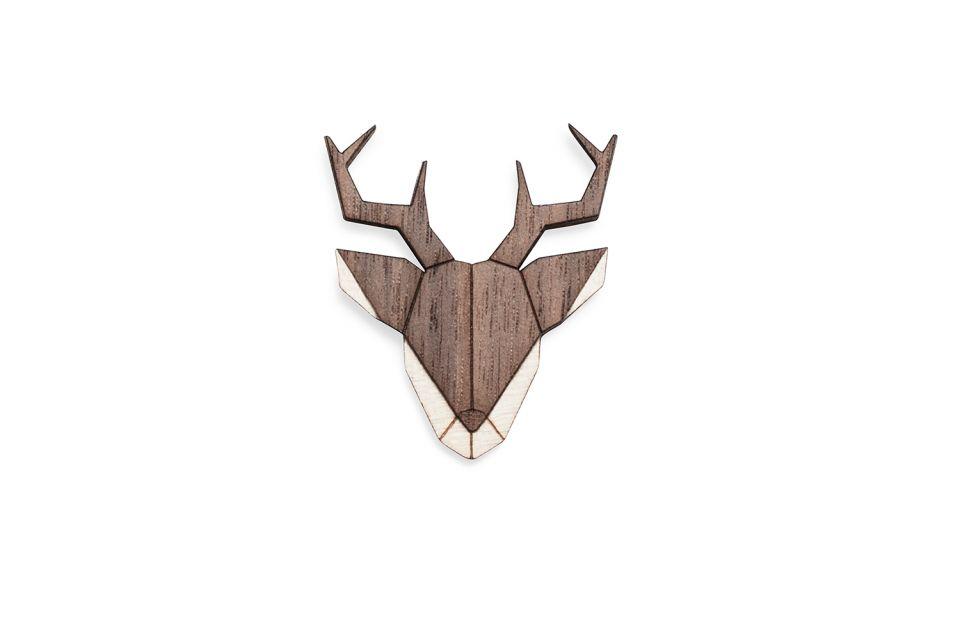 BeWooden Deer Brooch