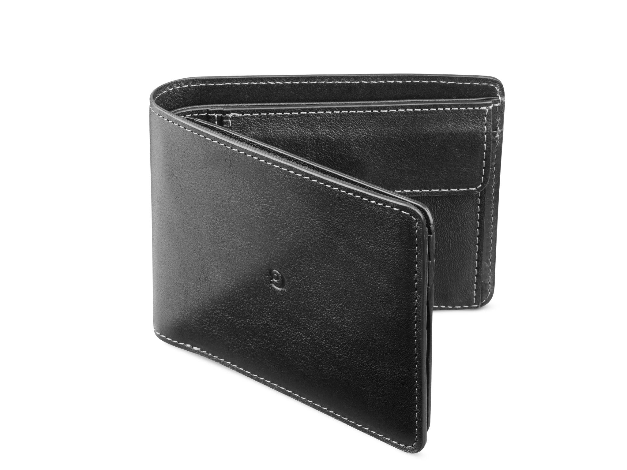 Danny P. Pánská kožená business peněženka, Černá