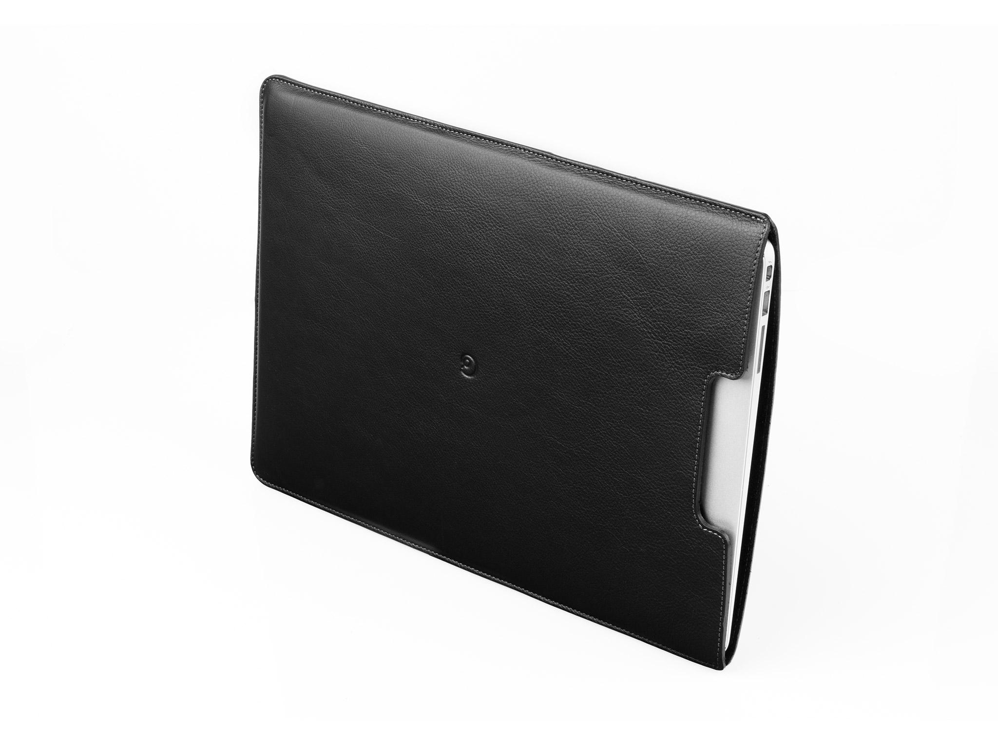 """Danny P. Kožený obal na MacBook Air 13"""", Černý"""