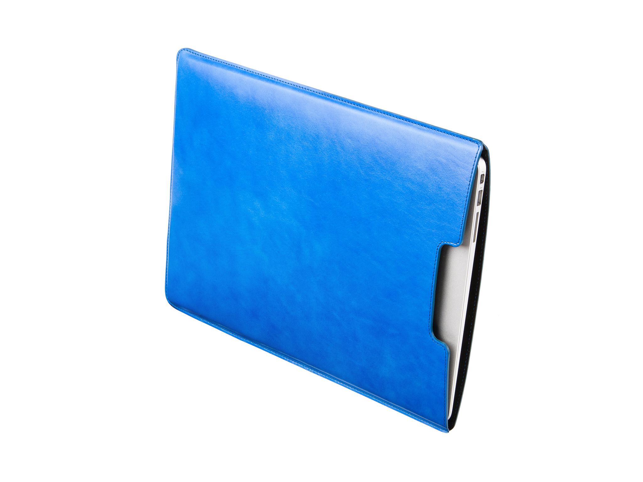 """Danny P. Kožený obal na MacBook Air 13"""", Modrý"""