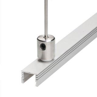 Záveska pre LED profil KLUŚ DP pre oceľové lanko a prút - 00644