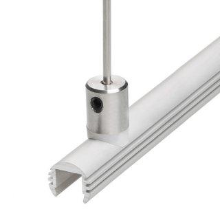 Záveska pre LED profil napájacia KLUŚ DP-ZO pre oceľové lanko a prút - 00649