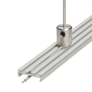 Záveska pre LED profil napájacia KLUŚ DP-ZZ pre oceľové lanko a prút - 00651