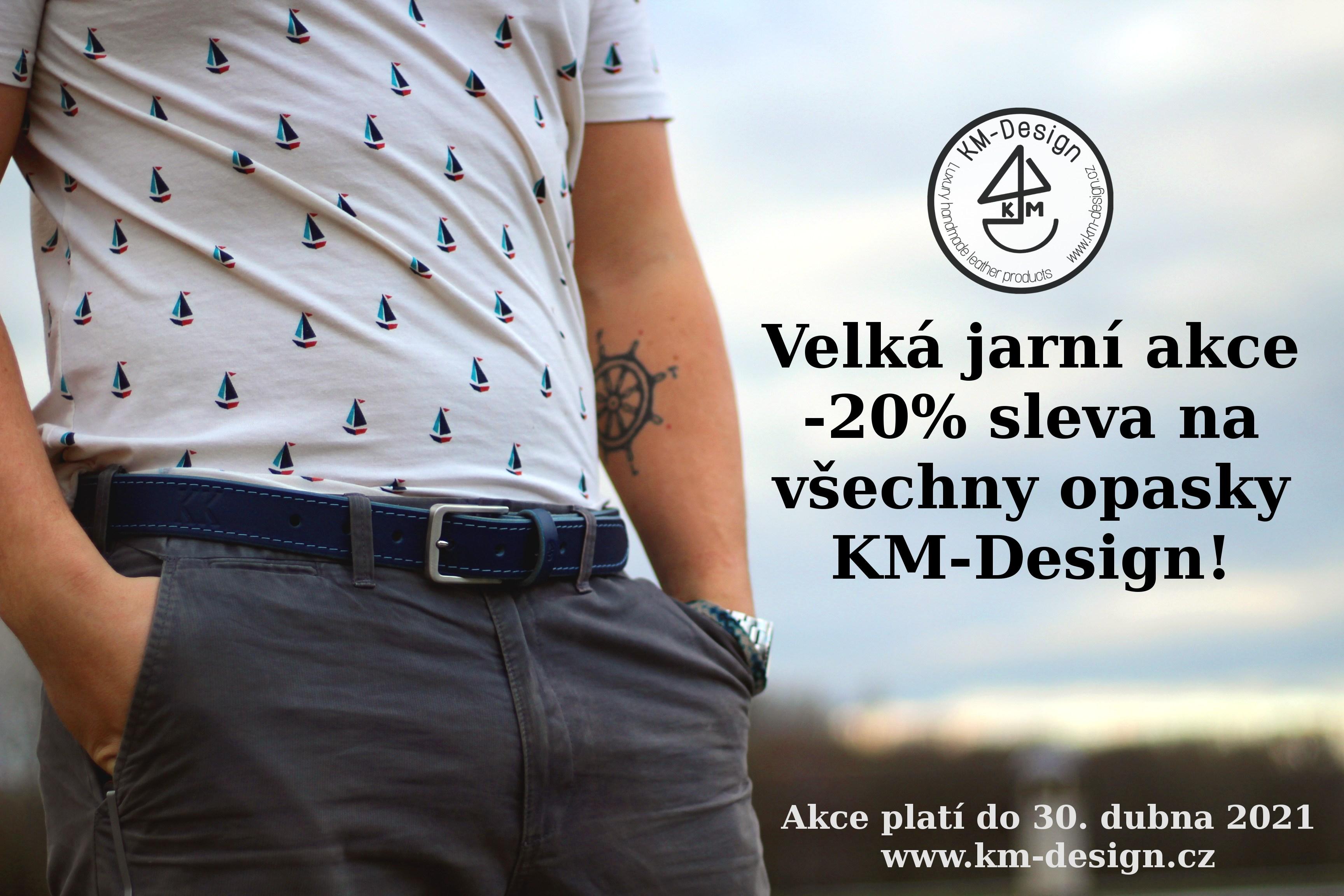 Jarní AKCE -20% na kožené opasky KM-Design