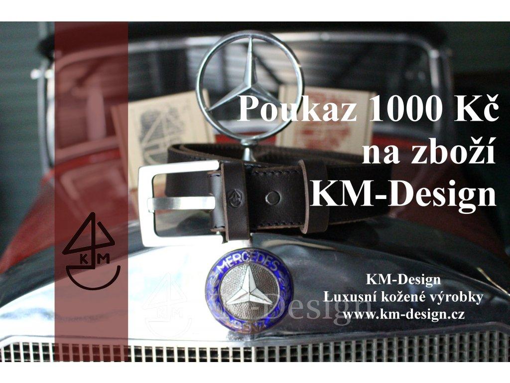 poukaz1000kckm design