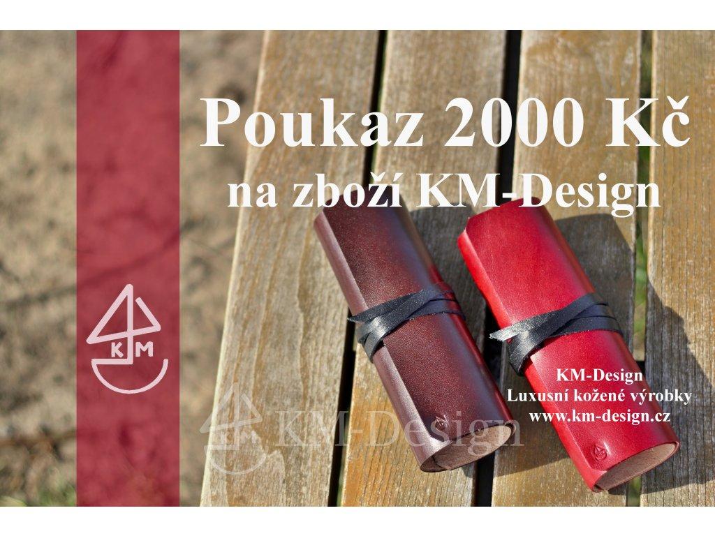darkovy poukaz 2000kc km design