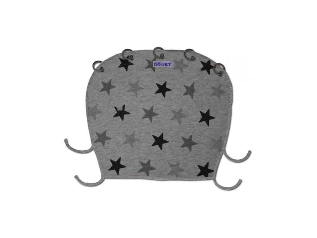 DOOKY DESIGN Slnečná clona - Grey stars