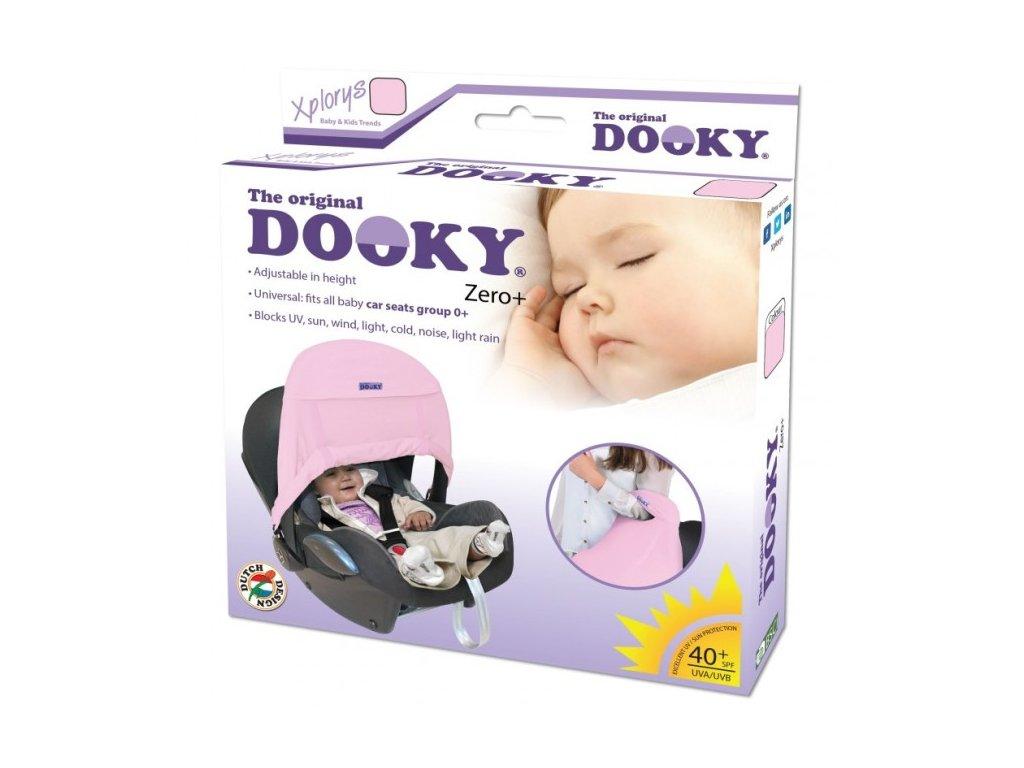 Dooky Slnečná clona Zero+ baby pink
