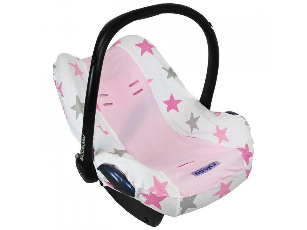 Dooky Poťah na autosedačku Seat Cover 0+ Pink Stars