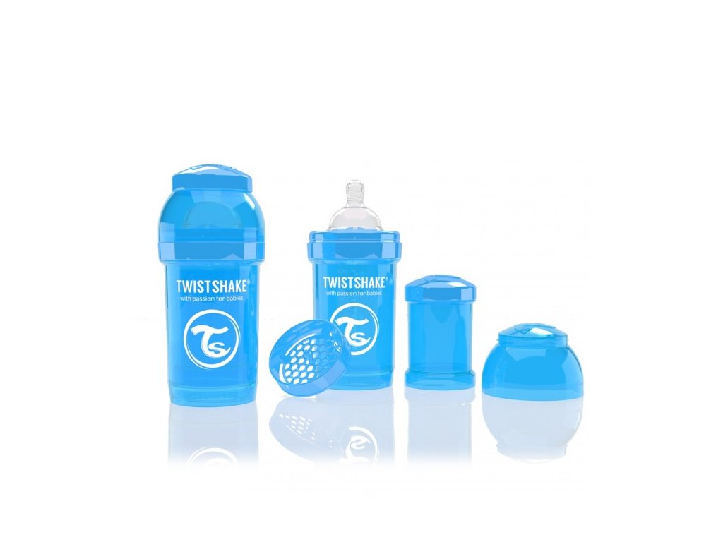 Twistshake Antikoliková fľaša 180ml BLUE