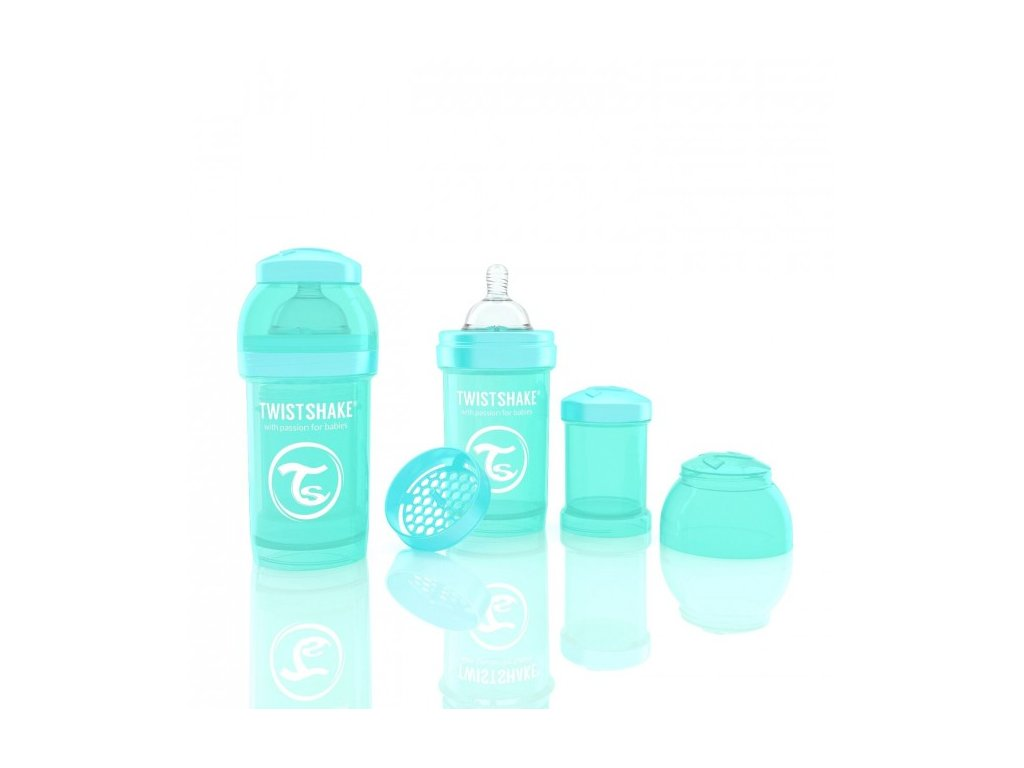 Twistshake Antikoliková fľaša 180ml Turquoise