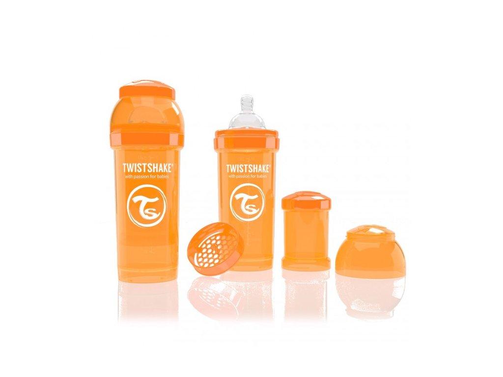 Twistshake Antikoliková fľaša 260ml Orange