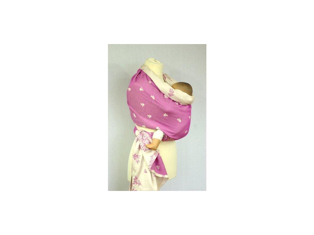 Šanami Šatka na nosenie detí 4,5m - levanduľa