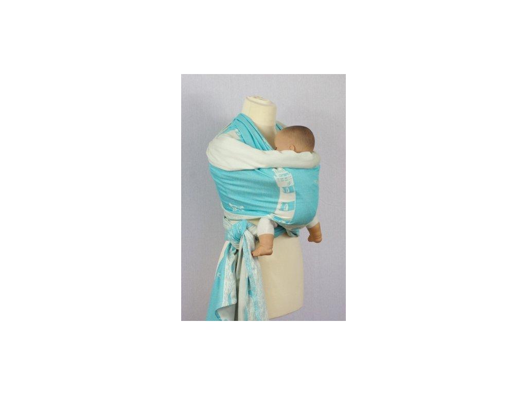 Šanami Šatka na nosenie detí 4,5m - modrý maják