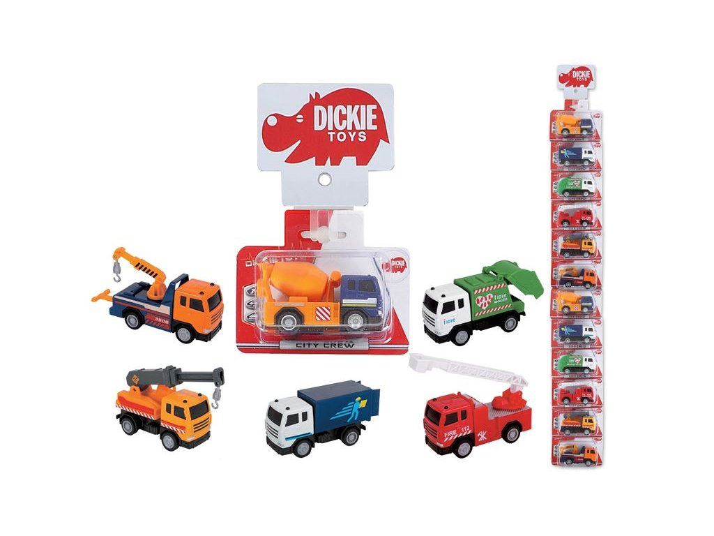 Dickie Kovové auto City Crew