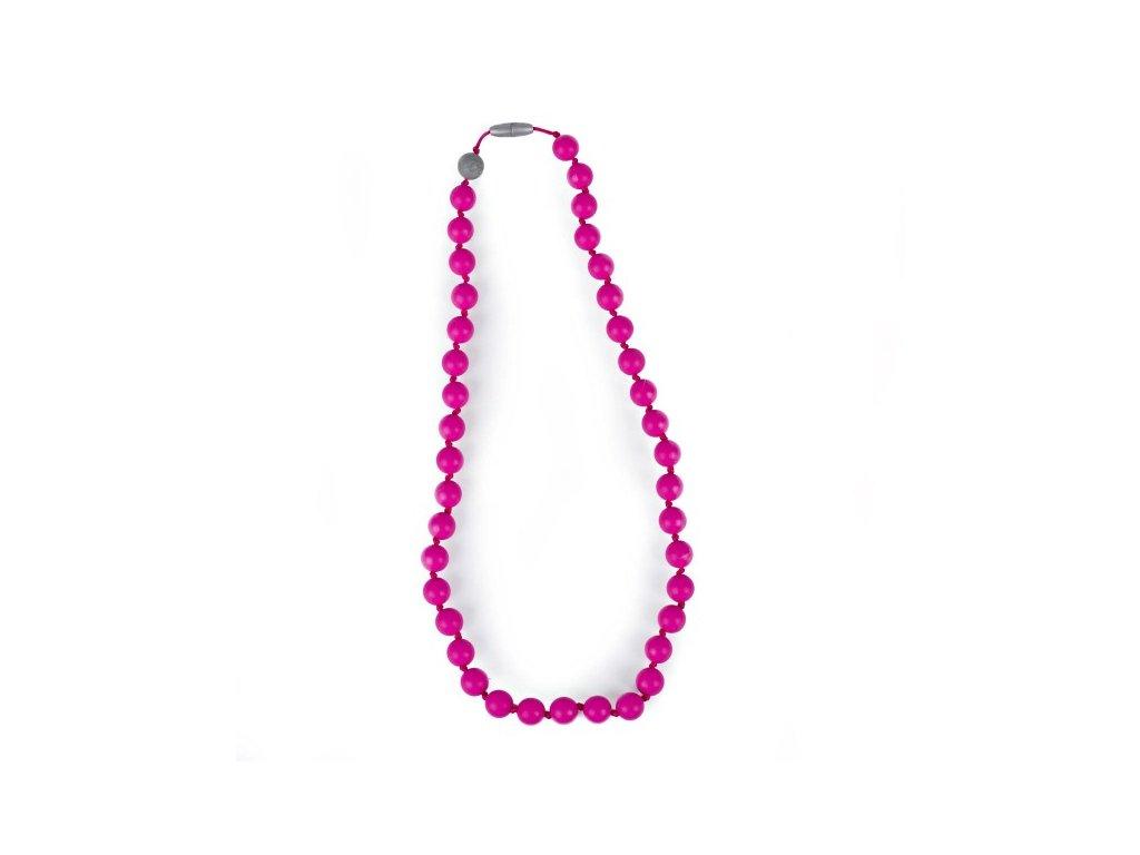 Itzy ritzy Silikónový mama náhrdelník - ružový