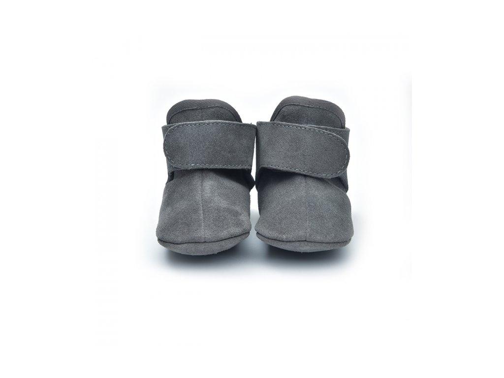 LODGER Walker Leather Basic Dark Grey 3 - 6 mesiacov