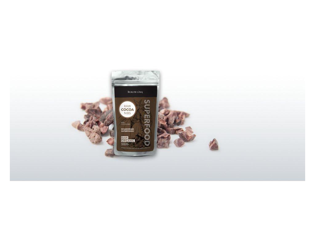 HEALTH LINK - BIO kakaové bôby drvené 250g