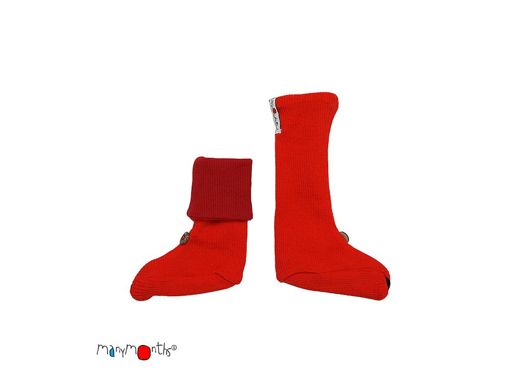 buttonbooties poppyred
