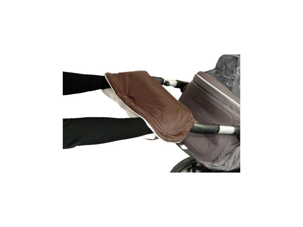 Emitex rukavnik na kocarek fleece hnedy bezovy