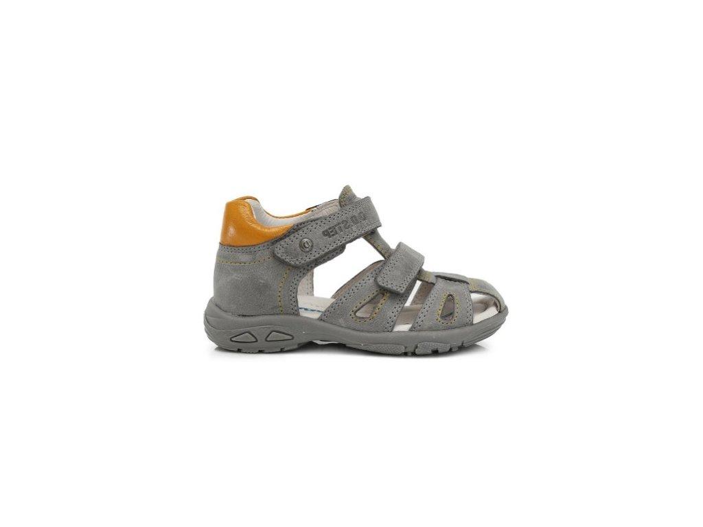 1d4234db9609 D.D.STEP kožené sandálky grey s uzatvorenou špičkou - Kmart.sk