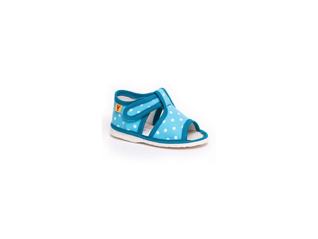 cf7bb8a8949fd detska obuv papuce tyrkysova bodka 328.thumb 409x369