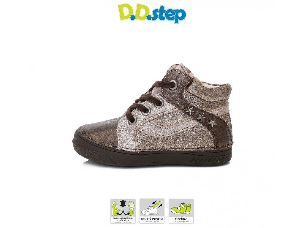 D.D.Step dievčenské kožené topánky - Bronze - Kmart.sk d42221f3027