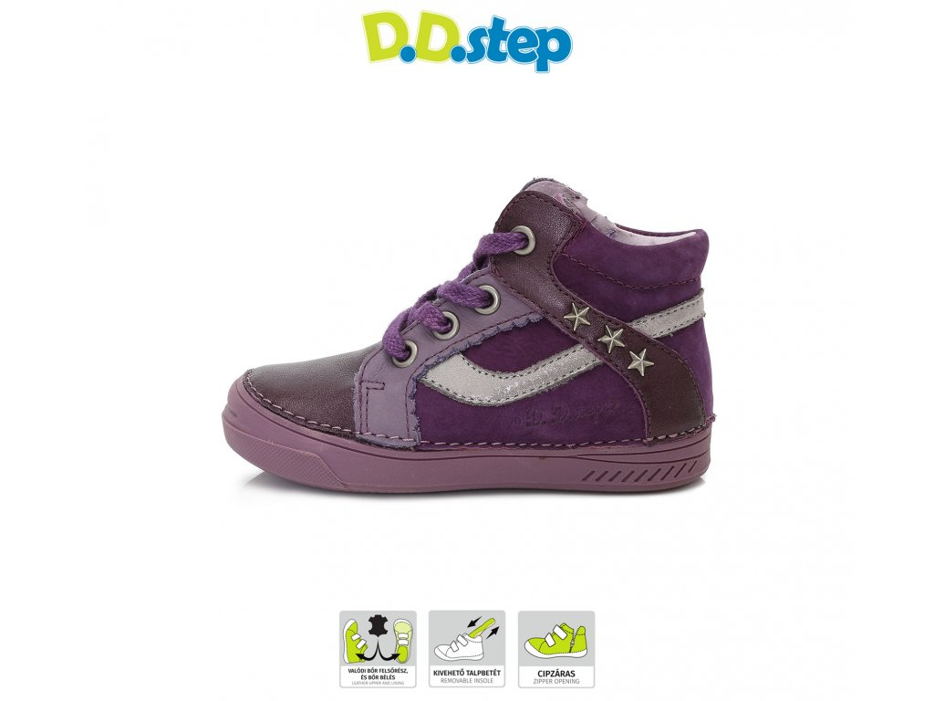 24595182a D.D.Step kožené topánky - Lavender - Kmart.sk