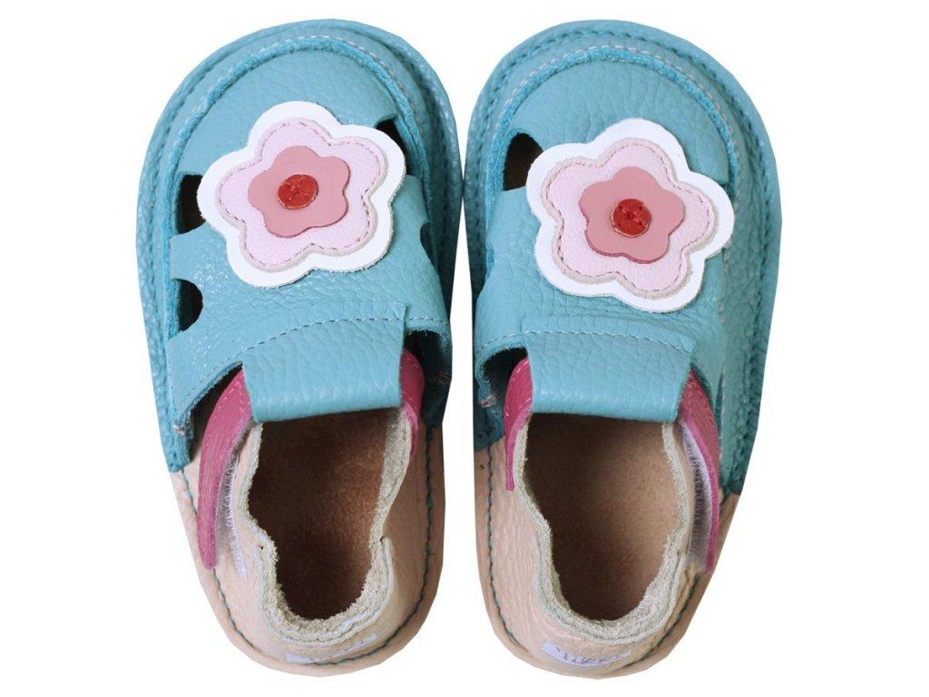 barefoot kids sandals cherry flowers 127 4