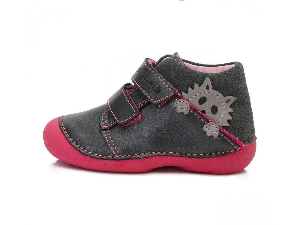 17f05dd637 D.D.STEP kožené topánky - Dark Grey mačička - Kmart.sk